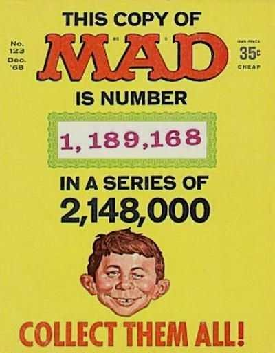 Mad (1952 series) #123, VG (Stock photo)