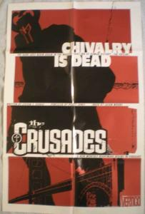 CRUSADES Promo poster, Vertigo, 22x34, 2001, Unused, more Promos in store
