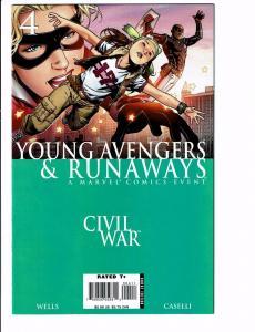 Young Avengers & Runaways #4 NM 1st Print Civil War Tie-In Marvel Comic Book J96