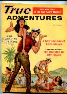 TRUE ADVENTURES-APR-1959-PULP FICTIONSPICY-LOVE SLAVES-CHEESECAKE-SAUNDERS-fn