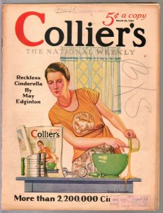 Colliers 3/29/1930-Wistehoff infinity cover-Sax Rohmer-Fu Manchu-pulp thrills-VG