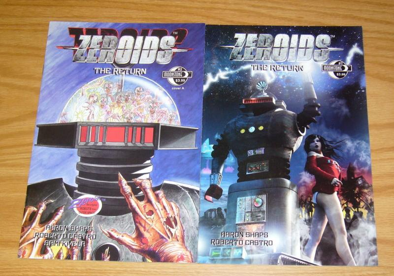 Zeroids: the Return #1-2 VF/NM complete series based on toys - moonstone comics