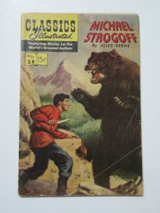 Classics Illustrated- 28 Michael Strogoff by Jules Verne HRN 167