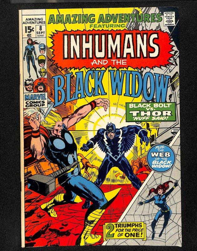 Amazing Adventures #8 Black Widow Inhumans Thor!