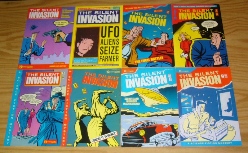 the Silent Invasion #1-12 VF/NM complete series + poster - a sci-fi mystery set