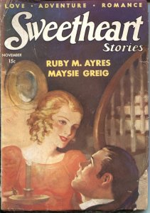 SWEETHEART STORIES-1934 NOV---ADVENTURE--LOVE-SPICY PULP-RARE-NEW COLLECTION