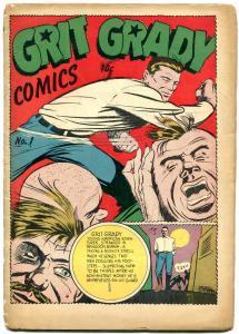 Grit Grady Comics #1 1944- Holyoke 1 shot- Alias X- Miss Victory FAIR