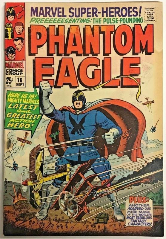 MARVEL SUPER-HEROES#16 VG 1968 PHANTOM EAGLE SILVER AGE COMICS
