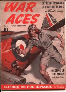 War Aces #3 1941-George Rozen cover-Frank Tinsley-Arch Whitehouse-VG