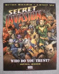 SECRET INVASION Promo Poster, 10 x 13, 2007, Unused, more in our store