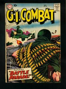 GI COMBAT COMICS #65 1958-WWII ACTION STORIES-JOE KUBERT-  vg minus VG-