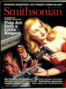 Smithsonian 8/2003-pulp art illustrations-Rafael deSoto cover-historic issue-FN