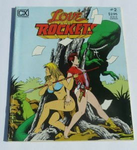 Love and Rockets #2 VG/FN 1982 Fantagraphics Magazine Warriors Dinosaurs Battle