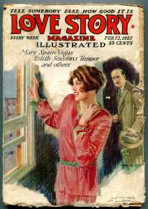 Love Story Magazine Pulp February 12 1927- Mary Spain Vigus
