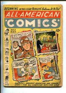 ALL AMERICAN #2-1939-DC-HOP HARRIGAN-SCRIBBLY-PRE SUPER HERO DC-fr