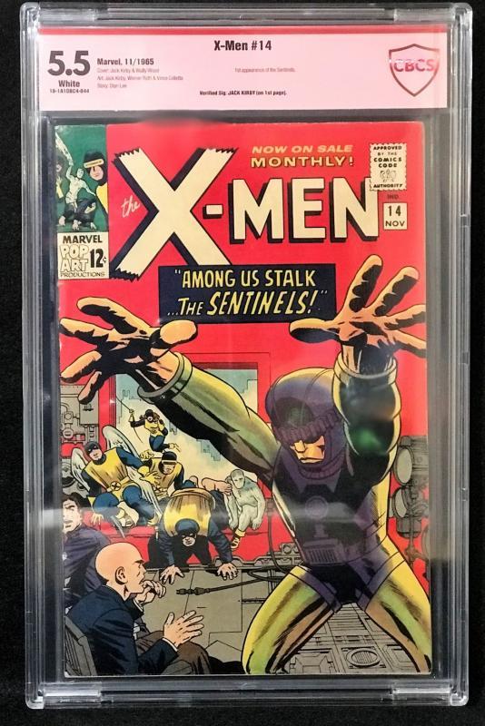 X-Men #14 (Marvel, 1965) CBCS 5.5 Jack Kirby verified Signature