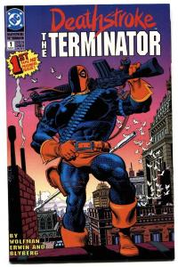 DEATHSTROKE: THE TERMINATOR #1 1991-comic book HIGH GRADE-DC-KEY.