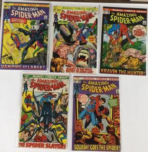 Amazing Spider-man 102 103 104 105 106 107 108 109 110 5.5-7.5 Fn- / Vf- Av Fine