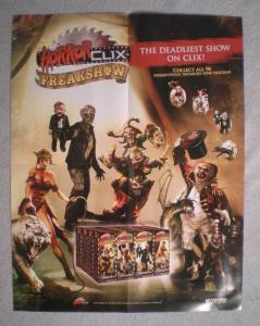 HORROR CLIX: FREAKSHOW Promo Poster, Horror, 2007, Unused, more in our store