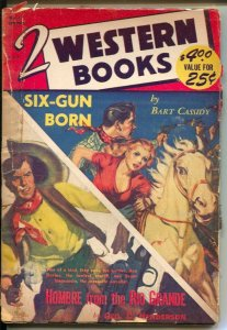 2 Western Stories #11 Spring 1952-Allen Anderson spicy GGA cover-Bart Cassidy-G