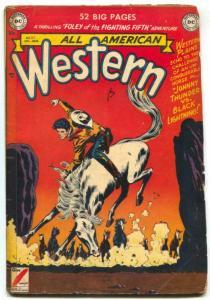 All-American Western #117 1950- Johnny Thunder- DC comics G+