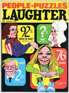 Laughter Magazine ~ Two(2) Issues 1976 Jan. Feb. Issues 8,9  Similar to Mad