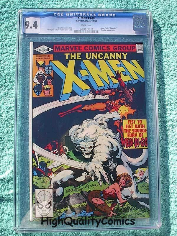 X-MEN #140, NM, CGC 9.4, , Chris Claremont, John Byrne, Alpha Flight, Uncanny
