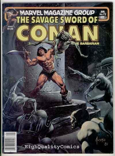 SAVAGE SWORD of CONAN #72, FN+,Buscema, Joe Jusko, Ernie Chan,more SSOC in store