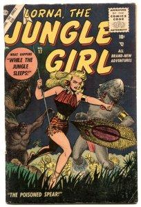 Lorna, The Jungle Girl  #17 1955- Burgos cover- Jay Scott Pike VG