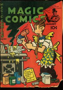 MAGIC COMICS #102-LONE RANGER BUZ SAWYER POPEYE 1948 FR
