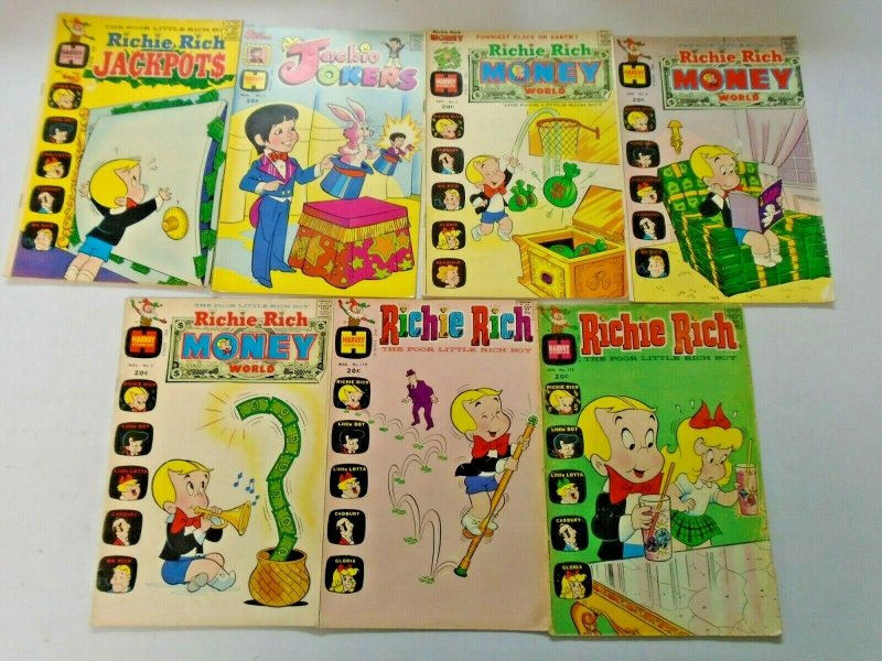 Early Bronze Age Harvey Richie Rich 20¢ Covers Comic Lot 21 Different Avg 5.0