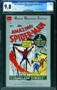 Marvel Milestone Edition: Amazing Spider-Man #1 CGC 9.8  1st SPIDER-MAN 20177140