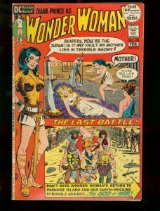 WONDER WOMAN #198 DC COMICS 1972 LAND OF AMAZONS-DEATH  FN