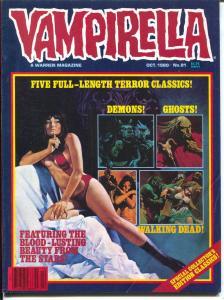 Vampirella #91 1980-Warren-Horror cover-spicy art-walking dead-FN