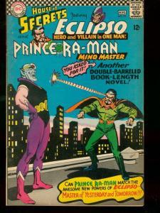 HOUSE OF SECRETS #79 1966 DC  PRINCE RA-MAN CROSSOVER VF-