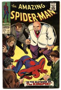 AMAZING SPIDER-MAN #51 comic book 1967-2ND KINGPIN  Silver-Age Marvel