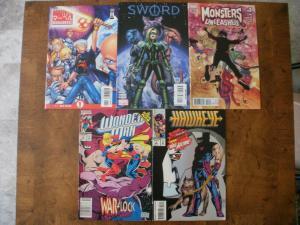 5 MARVEL Comic: MANGAVERSE SWORD #1 MONSTERS UNLEASHED #3 WONDER MAN #14 HAWKEYE