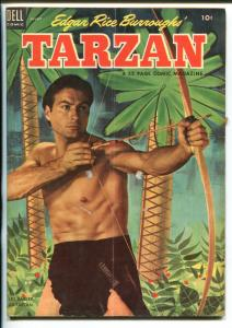 TARZAN #47-1953-DELL-BURROUGHS-MARSH-LEX BARKER PHOTO COVER-vg