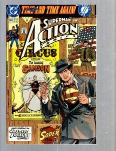 12 Superman Action Comics # 663 664 665 666 667 668 669 670 671 672 673 674 GK50