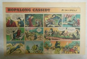 Hopalong Cassidy Sunday Page by Dan Spiegle from 5/21/1950 Size 7.5 x 10 inches