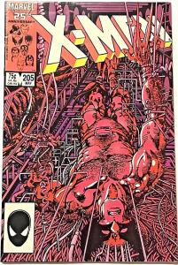 UNCANNY X-MEN#205 FN/VF 1986 MARVEL COMICS