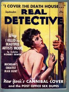 REAL DETECTIVE-1937 SEP-PULP TRUE CRIME-GOOD GIRL ART-LURID CRIME & HORR G/VG