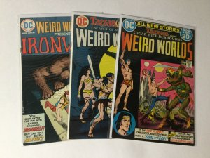 Weird Worlds 1 3 9 Lot Fn/Vf Fine/Very Fine 7.0 Dc