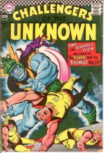 CHALLENGERS OF THE UNKNOWN 57 G-VG Sept. 1967 COMICS BOOK