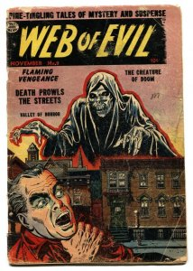 WEB OF EVIL #8 1953-QUALITY-PRE-CODE HORROR-JACK COLE good-