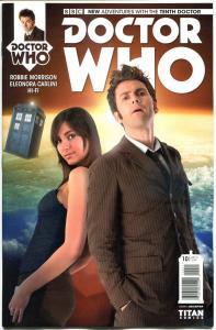 DOCTOR WHO #10 B, NM, 10th, Tardis, 2014, Titan, 1st, more DW in store, Sci-fi