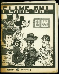 Flame-On! Fanzine #2 1965- James Halperin- EC comics- Rare Early fandom G