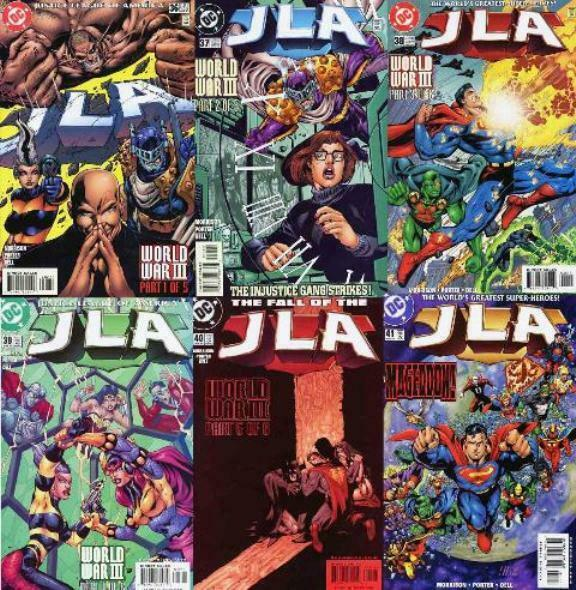 JLA (1997) 36-41  WORLD WAR III parts 1-6