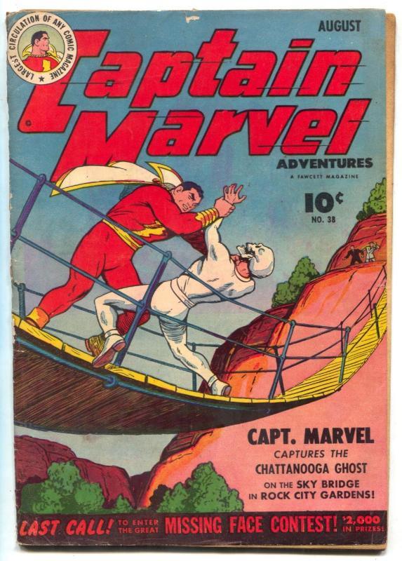 Captain Marvel Adventures #38 1944-restored G