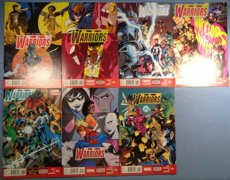 New Warriors Lot of 7 Marvel Comics Spider-Man Nova